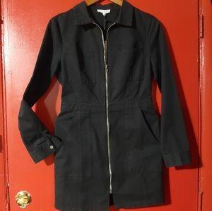 Jackets & Blazers - Black Zip Up Coat Dress